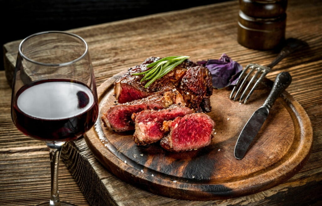 how to combine merlot red wine with food